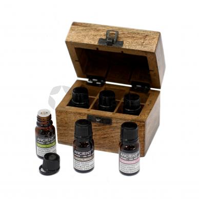 Aromaterapijos dėžutė su 6 geriausiais eteriniais aliejais