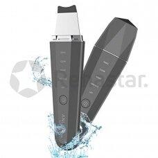 Atsparus vandeniui ultragarsinis veido valymo prietaisas su šilumos terapija ANLAN IPX5 Juodas