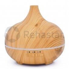 Eterinių aliejų garintuvas  Pure Aroma, medžio spalvos LED 150 ml