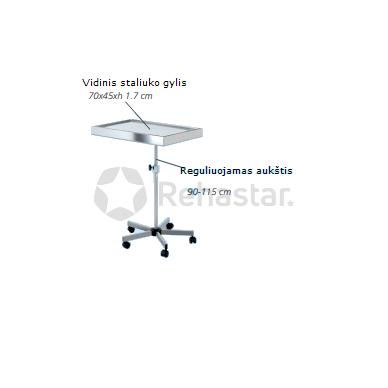 Instrumentinis reguliuojamo aukščio staliukas Mayo Simple 2