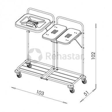 Logistikos vežimėlis VAKO 80K - 8011 2