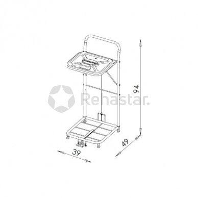 Logistikos vežimėlis VAKO80B - 8002 2
