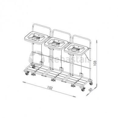 Logistikos vežimėlis VAKO120C/3 - 23048K3 2