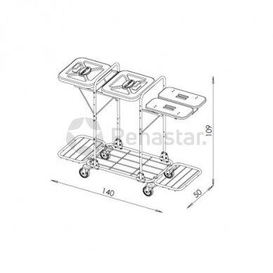 Logistikos vežimėlis VAKO120K - 1223319 2