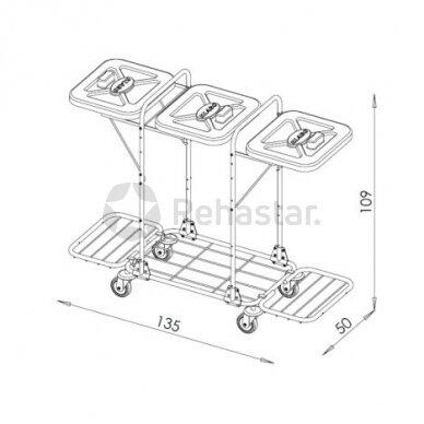 Logistikos vežimėlis VAKO120J - 122337 2