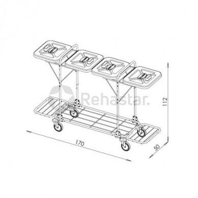 Logistikos vežimėlis VAKO120L - 122336 2