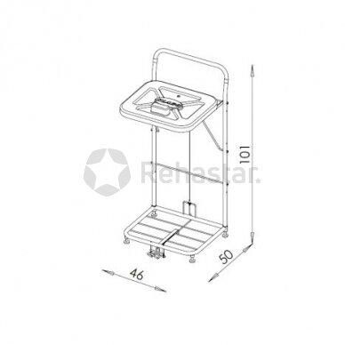 Logistikos vežimėlis VAKO120B/N - 23048N 2