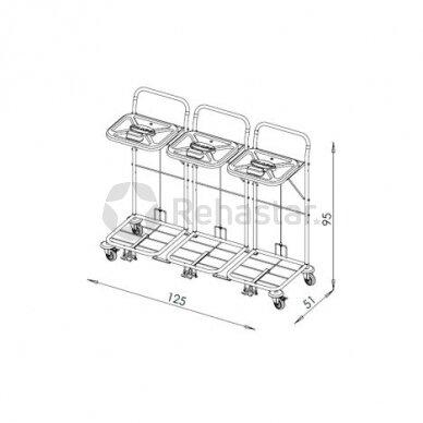 Logistikos vežimėlis VAKO80C/3 - 8006 2