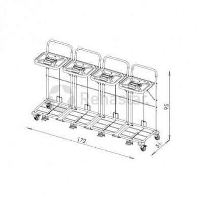 Logistikos vežimėlis VAKO80C/4 - 8007 2