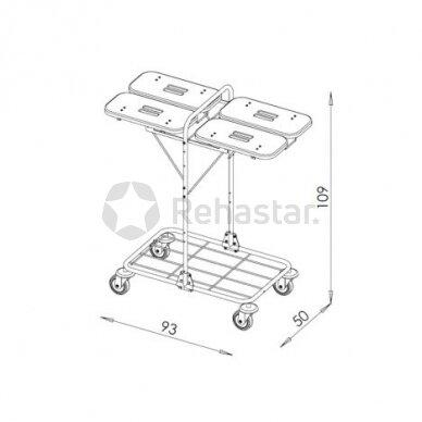 Logistikos vežimėlis VAKO80H - 1233A 2