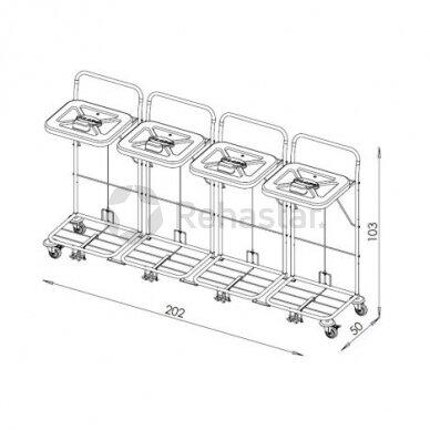 Logistikos vežimėlis VAKO120C/4 - 23048K4 2