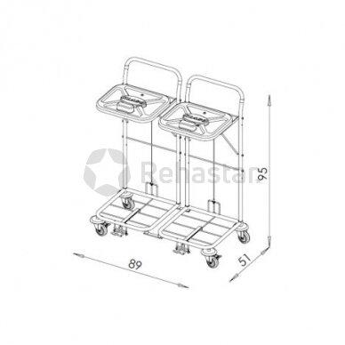 Logistikos vežimėlis VAKO80C/2 - 8005 2