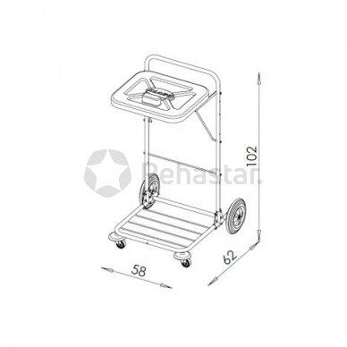 Logistikos vežimėlis VAKO120D - 523S 2