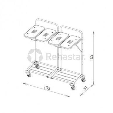 Logistikos vežimėlis  VAKO80G - 8010 2