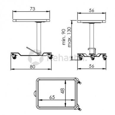 Nerūdijančio plieno staliukas instrumentams NEREZ 1113 3