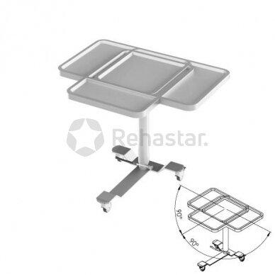Nerūdijančio plieno staliukas instrumentams NEREZ 1114 2