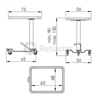 Nerūdijančio plieno staliukas instrumentams NEREZ 1114 3