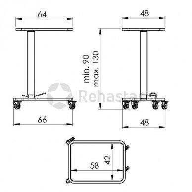 Nerūdijančio plieno staliukas instrumentams NEREZ 1120 3