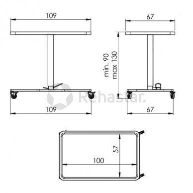 Nerūdijančio plieno staliukas instrumentams NEREZ 1125 2