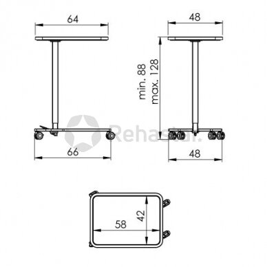Nerūdijančio plieno staliukas instrumentams NEREZ 1130 3