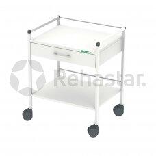 Procedūrinis vežimėlis su stalčiais žemas 12075