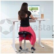 Reguliuojamo aukščio stalai su ergonomine kėdute: nauda ir privalumai