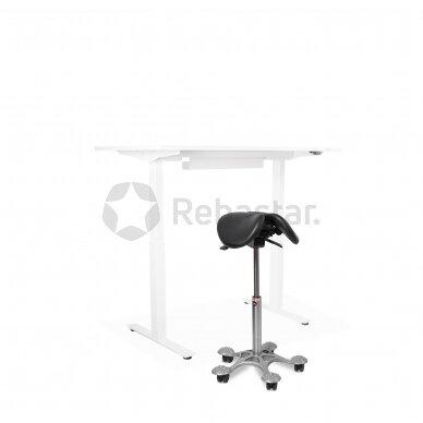 Reguliuojamo aukščio stalas ALBUS su ergonomine kėde SALLI MULTIADJUSTER