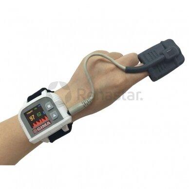 Skaitmeninis pulsoksimetras tvirtinamas ant riešo GIMA 34340 WRIST